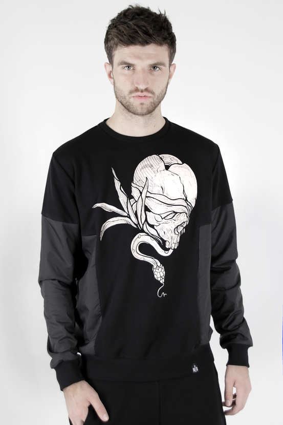 Sweatshirt Mark J.Brash, drawing Snake of fate